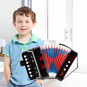 7-Key 2 Bass Kids Accordion Children's Mini Musical Instrument Button Toy Black