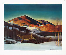ROCKWELL KENT Vtg & VeryRare c1933-38 OOP Lrg DEEPTONE Litho MT. EQUINOX WINTER