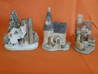Lot of 3 David Winters Buildings, Snow Cottage, The Chapel, St. Anne's Well.