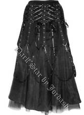 JORDASH DARK STAR GOTHIC ALTERNATIVE LONG SKIRT CONSISTING OF DUPION MATERIAL