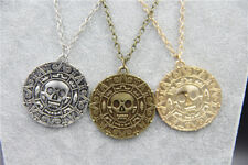"Pirates Pirate Coin Medallion Pendant Necklace 20"" chain. UK SELLER"