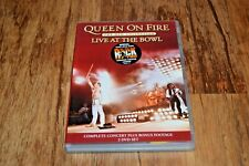 QUEEN ON FIRE Live at the Bowl 2 x DVD VGC Free UK Delivery