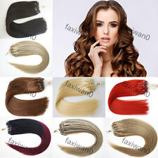 """20"""" Loop Micro Ring Beads Tip Real Remy Human Hair Extensions Straight 1g/s 50S"""