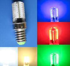 E14 LED bulb Red/Green/Blue/White/Warm 64-3014SMD Light 110V 220V E14S Lamp