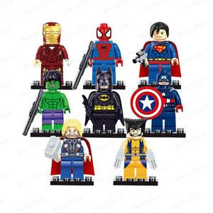 8pcs Superhero Marvel Avengers minifigures Custom DC Marvel Limited Edition