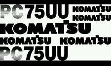 Komatsu PC 75UU Excavator Decal Set
