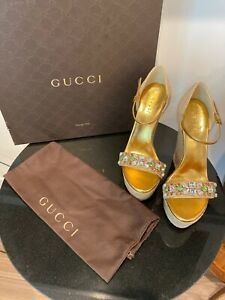 Gucci Espadrilles Size 37 Heel Height 6 Inches In Height