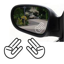 2 Stück Shocker Hand Aufkleber JDM Autospiegel Sticker