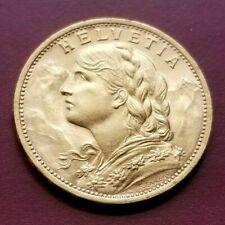 1930 B Swiss 20 Francs Gold Coin. Great Condition