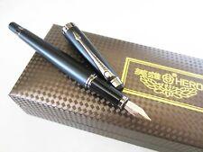 Luxurious Black Hero Fountain Pen H706 - 10k Gold Nib