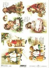 Rice Paper for Decoupage Scrapbooking Christmas Vintage Children A4 ITD R775