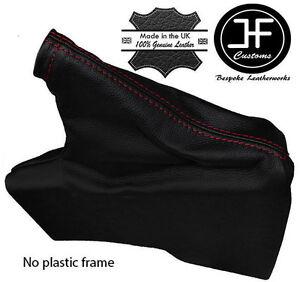 RED STITCH BLACK LEATHER HANDBRAKE BOOT FITS TOYOTA GT86 SUBARU BRZ 2012-2017