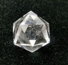isocaèdre de pierre précieuse cristal de Roche Géométrique figurine
