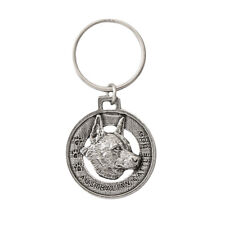 Creative Pewter Designs Australian Cattle Dog Pewter KeyChain, Key Fob, D014Kc