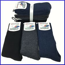 Calze in PILE lunghe 3 PAIA da uomo calzini termiche invernali montagna colorate