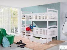 Etagenbett Hochbett Öko Bett BELLA Kinderbett Stockbett mit Matratze 90x200