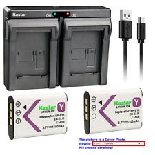 Kastar NP-BY1 Battery Charger Sony Action Cam Mini HDR-AZ1 NPBY1 BY1 AZ1