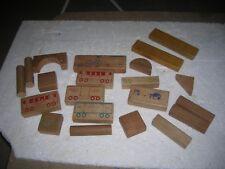 1947 HOLGATE TRAIN BLOCKS Wooden Toy