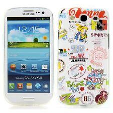 Samsung Galaxy S3  NEO TPU Silikon Case Handy Schutz Hülle Etui Cover Comic Weiß