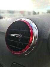 Audi TT MK2 8J Air vent rings Red set of 5