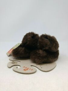 Acorn Infant Brown Fuzzy Boots Size 6-12 Mos. US
