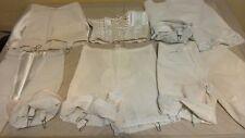 Rare 60s Vtg Lot 5 plus Panty Garter Girdles White Union S-M white/ivory ESTATE