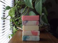 Handmade Soap 5-Bars (U-Pick) Vegan Natural Olive, Coconut Oil, Shea Butter