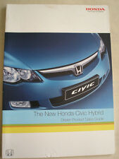 Honda Civic Hybrid Dealer Product Sales Guide brochure Nov 2005