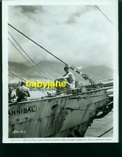 ROCK HUDSON VINTAGE 8X10 PHOTO IN BATHING SUIT ON SHIP IN MAUI HAWAII 1958