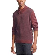 New Mens Geoffrey Beene Shawl Collar Diamond Print Pullover Sweater LT