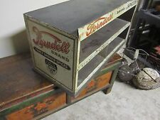 Antique Ferndell Store Display Tin Advertising Cabinet Spice Sprague Warner Old