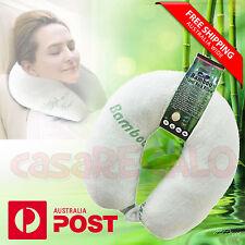 U Shaped Neck Pillow Flight Support Cushion BAMBOO MEMORY FOAM TRAVEL PILLOW