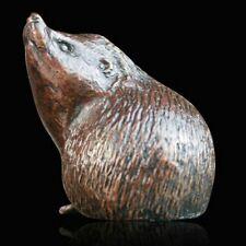 Small Hedgehog Alert Solid Bronze Foundry Cast Sculpture Michael Simpson [908]