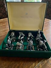 """Vintage Silverplate Napkin Rings """"Animals at Play"""" Franklin Mint Limited Edition"""
