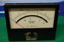 Hewlett Packard 1mw 600 Ohm Db Panel Meter Working Tested