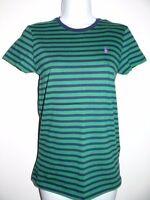 Ralph Lauren Sports Women's Cotton Green Navy Striped T-Shirt