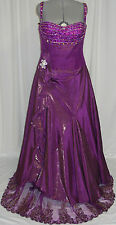 UNIQUE PAGEANT PROM COCKTAIL DRESS HOMECOMING EVENING FORMAL GOWN Purple  XL 14