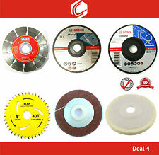 Deal 4 - Combo Offer of  Wheels and Blades Suitable for all 4inch Angle Grinder