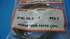 """pomona 3781-36-5 36"""" mini grabber test clip each end (1 green)"""