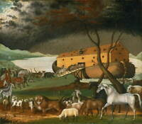 Edward Hicks Noah's Ark Poster Reproduction Paintings Giclee Canvas Print