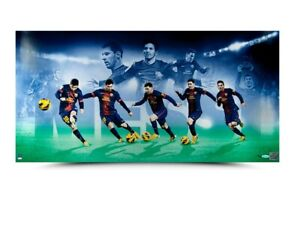 "Lionel Messi Signed Autographed 36X18 Photo ""Arrival"" FC Barcelona #/50 UDA"