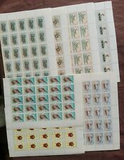AFGHANISTAN INSECTS STAMPS SET  MNH. x 25 Sets.1988.issue.