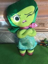 """Disney Pixar Inside Out Disgust Plush Toy 13"""" Green Cute Stuffed Toy"""