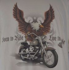 Men's  Harley Davidson Short Sleeve Shirt Size XXL Tie Dye Harley Flames Riding