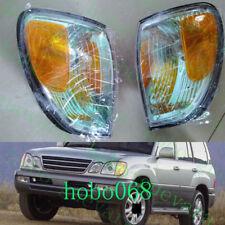 2xFor Lexus LX470 98-07 Green Front Bumper Turn Signal Light Corner Lamp Nobulb