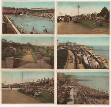 Southend-on-Sea, Essex: 2 Sets of 6 Printed Photochrome Postcards + Envelope