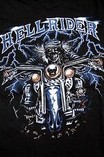 Hellrider Judas Priest Música Rock Pesado Manga Corta Negro T Shirt Top L Super!!!