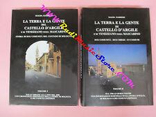 2 book libro LA TERRA E LA GENTE DEL CASTELLO D'ARGILE Magda Barbieri (LG4)