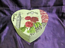 London Heart Shaped Jewellery Box - mirror and ring compartments gift