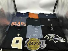 Clothing Lot of 10 Cotton Casual Shirts Unisex Mix of Sizes Mix of Brands